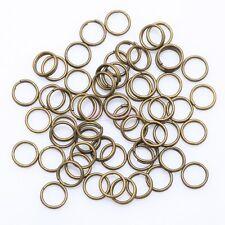 4,5,6,8,10,12 mm Metal Double Loop Split Jump Ring Open Jump Rings - 6 colors UK