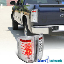 2007-2014 Chevy Silverado 1500 2500 LED Tail Light Brake Lamps Clear Lens