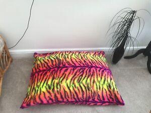 Beanbag Floor Cushion Filled Carnival Tiger Faux Fur Large 3cf Size Sensory Room