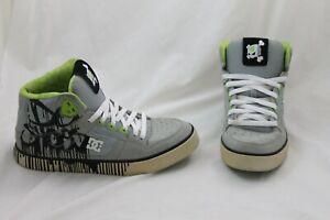 DC Mens Shoes Ken Block Skull Drip 43 Spartan High Skateboard Green Gray Sz 11