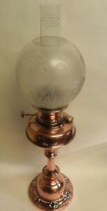 Antique Art Nouveau Oil Lamp. Copper. Youngs 20 Court Lamp. Unused. (225)