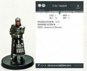 D&D Miniature - CITY GUARD  #23  (Giants of Legend - HARD TO FIND FIGURE - NC!!)
