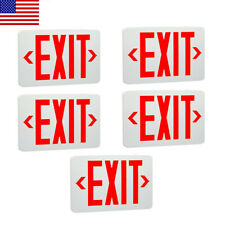 5 Pack Abs Red Led Exit Sign Ul Emergency Light Dual Led Lamp Fire Resistance