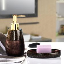 2Pcs Noble Marble Bathroom accessories set Resin Soap dish&Dispenser Decor Gift