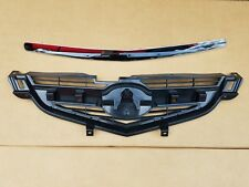 fits 2004-2006 ACURA TL Front Bumper Grille & Chrome Hood Molding Trim NEW