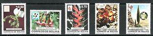 BOLIVIA 1989 726/30 BARCELONA'92 ORQUIDEAS FLORES 5v.