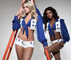 Sexy Womens Dallas Cowboys Cheerleader Team Costume Halloween Fancy Dress