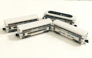 2012 Jakks Pacific Model Train Lot of 4 Euro Bullet Trans Euro Express Cars