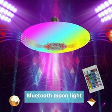 30W RGB Bluetooth 5.0 Music Light Bulb Ceiling Lamp RC Colorful Home Decor Lamp