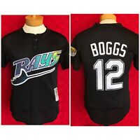 NEW Throwback Tampa Bay Devil Rays Wade Boggs Mitchell & Ness Jersey Small CC