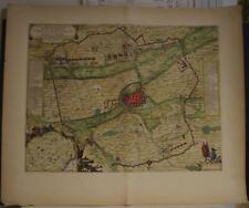 AIRE-SUR-LE-LYS SIEGE OF AIRE FRANCE 1649 BLAEU RARE ANTIQUE COPPER ENGRAVED MAP