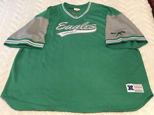 Philadelphia Eagles Top Prospect Mesh Shirt 4XLB Mitchell Ness Retro NFL NWT