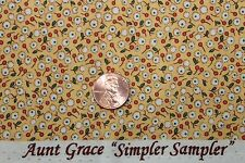 """AUNT GRACE """"SIMPLER SAMPLER"""" QUILT FABRIC CIRCA 1930's BTY FOR MARCUS 5865-0333"""