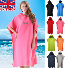Men Women Changing Robe Beach Towel Bath Hooded Quick Dry Poncho Bathrobe BR