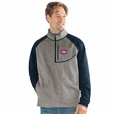 G-III Mountain Trail Half Zip Pullover Montreal Canadiens Gray Large Men NEW NWT
