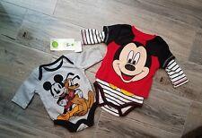 Disney Mickey Mouse New Infant Newborn Baby One Piece Boy Newborn Lot Of 2