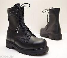 $218 Lehigh 1928BA Steel Toed Black Leather Work Boots - Men's Size 5.5 Wide