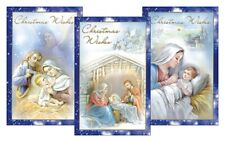 Christmas Cards Pack 10 Xmas Cards Smaller Nativity Scene Different Designs