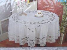 150 CM ø environ blanc vinyle nappe couverture de protection fleurs motif jardin table de balcon