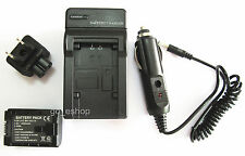 Battery + Charger for JVC Everio GZ-HM35BU GZ-HM40BU GZ-HM65BU FULL HD Camcorder