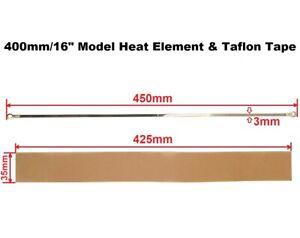 "3mm Width Heat Element & Teflon Tape for 400mm/16"" Impulse Heat Sealer Machine"
