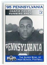 Chafie Felder 1995 Big 33 Pennsylvania PA Highschool Karte Penn State Jets 49ers
