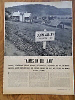 1945 Photo Article Ad Names on the Land  Coon Valley Wisconsin