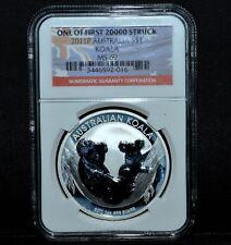 AUSTRALIA 2011 1 OZ SILVER KOALA ✪ NGC MS-69 ✪ 999 1ST 20000 STRUCK S$1◢TRUSTED◣