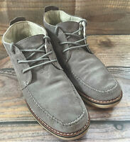 Toms mens chukka boots gray suede waterproof size 12