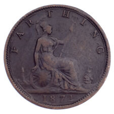 1872 Great Britain Farthing VF Condition KM #747.2