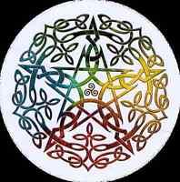 Elemental Celtic Pentacle - Bumper Sticker / Decal