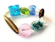 Wholesale Job Lot of Murano Glass Lampwork Bracelets - 100 Items BRAND NEW