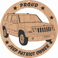 Jeep Patriot Wood Ornament Engraved