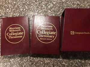 Merriam-Webster's Collegiate Thesaurus(1988, Hardcover)And Dictionary 11th Ed.