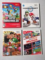 4 GAME NINTENDO Wii LOT SUPER MARIO BROS MARIOKART PUNCH OUT Wii PLAY MOTION VGC