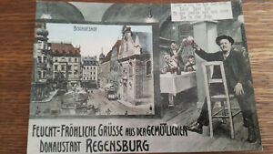 Ak,Regensburg,Krauterermarkt,Straßenbahn,ca.1907,Bischofshof,Brauerei,Repro