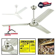 Ceiling Fan Garage Shop Commercial Heavy Duty Steel 3-Blade 56 Inch Ceiling Fans