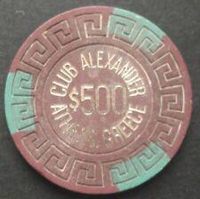 vintage 60's casino chip, VERY RARE Club Alexander Athens Greece !!!