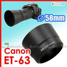 ET-63 Lens Hood Shade for Canon EF-S 55-250mm f/4.0-5.6 IS STM SL1 Kit 58mm JJC