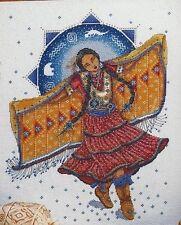 Dream bailarín nativo americano chica Kit Punto De Cruz