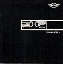 Mini Cooper S Hatchback 2001-02 UK Market Sales Brochure