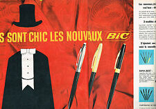 PUBLICITE ADVERTISING   1962   BIC    stylo  (2 pages)