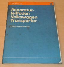 VW Transporter T3 4 Gang Schaltgetriebe 091 Werkstatthandbuch Leitfaden