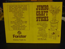 Forster Jumbo Craft Sticks Project for Rosebud Vase, Cookie Jar & Bulldog Box