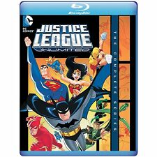 JUSTICE LEAGUE UNLIMITED - THE COMPLETE SERIES  - Blu Ray - Region free for UK