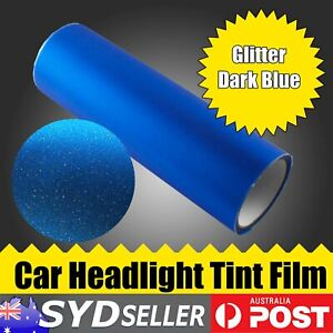 Headlight Tint Film Tail Lamps Glitter Blue Sheet Overlay Sticker 125cm x 30cm