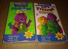 Barney Lets Pretend with Barney and Barney's Alphabet Zoo VHS Lot