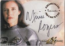 LOST IN SPACE MOVIE 1998 INKWORKS A1 MIMI ROGERS MAUREEN ROBINSON AUTOGRAPH