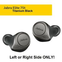 NEW Jabra Elite 75t Titanium BLK Wireless Replacement Earbud LEFT or RIGHT Only!