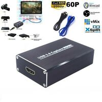 HD 1080p USB 3.0 HDMI Video Game Capture Card Live Streaming Recorder Device